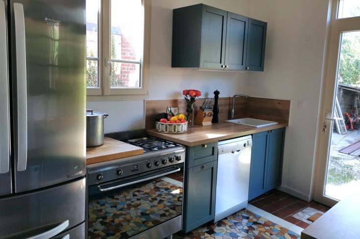 Renovation cuisine ancienne meuble ikea plum kitchen bleu paon 08