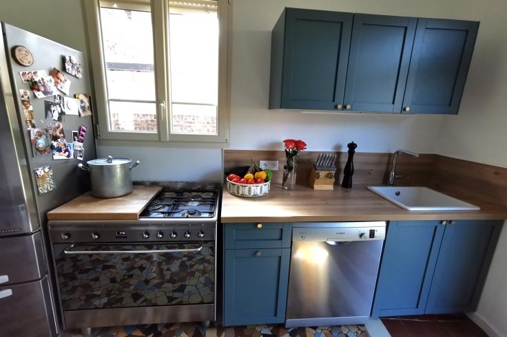 Renovation cuisine ancienne meuble ikea plum kitchen bleu paon 09