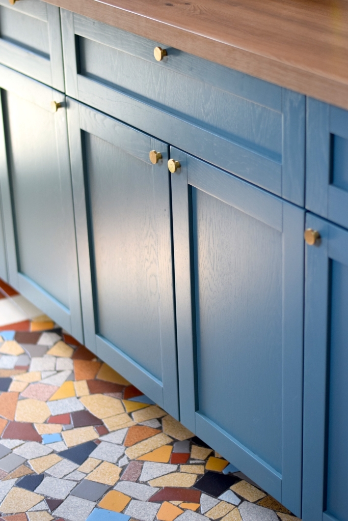 Renovation cuisine ancienne meuble ikea plum kitchen bleu paon 10
