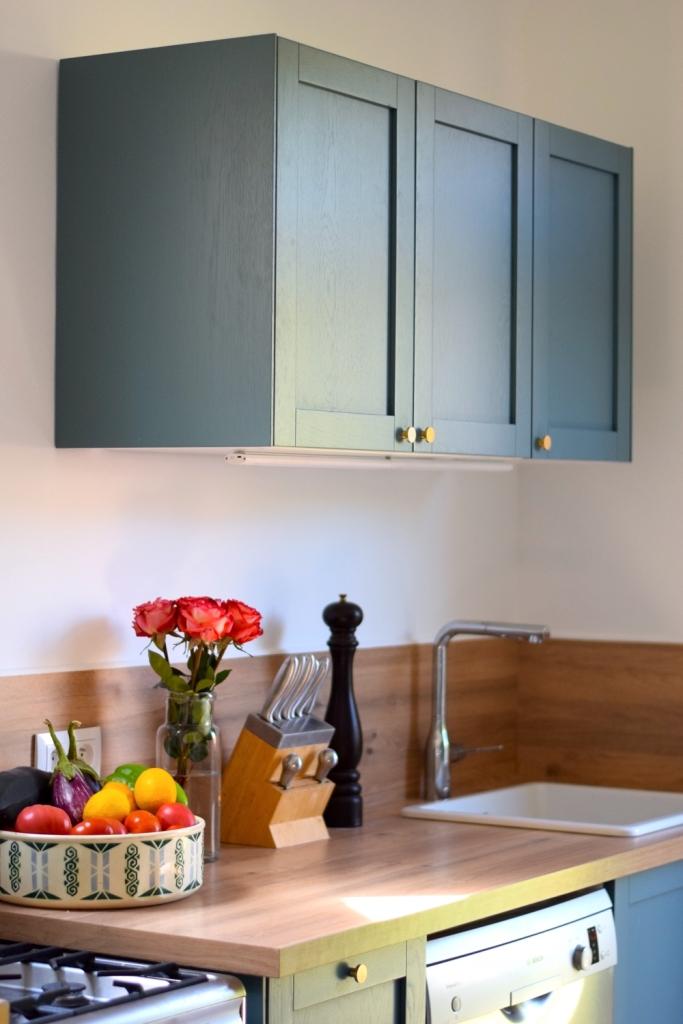 Renovation cuisine ancienne meuble ikea plum kitchen bleu paon 11