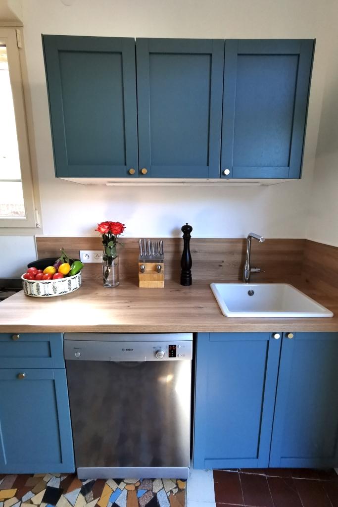 Renovation cuisine ancienne meuble ikea plum kitchen bleu paon 13