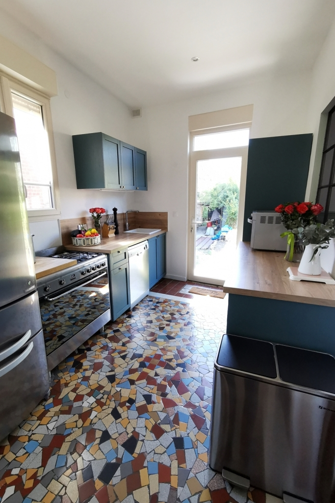 Renovation cuisine ancienne meuble ikea plum kitchen bleu paon 14