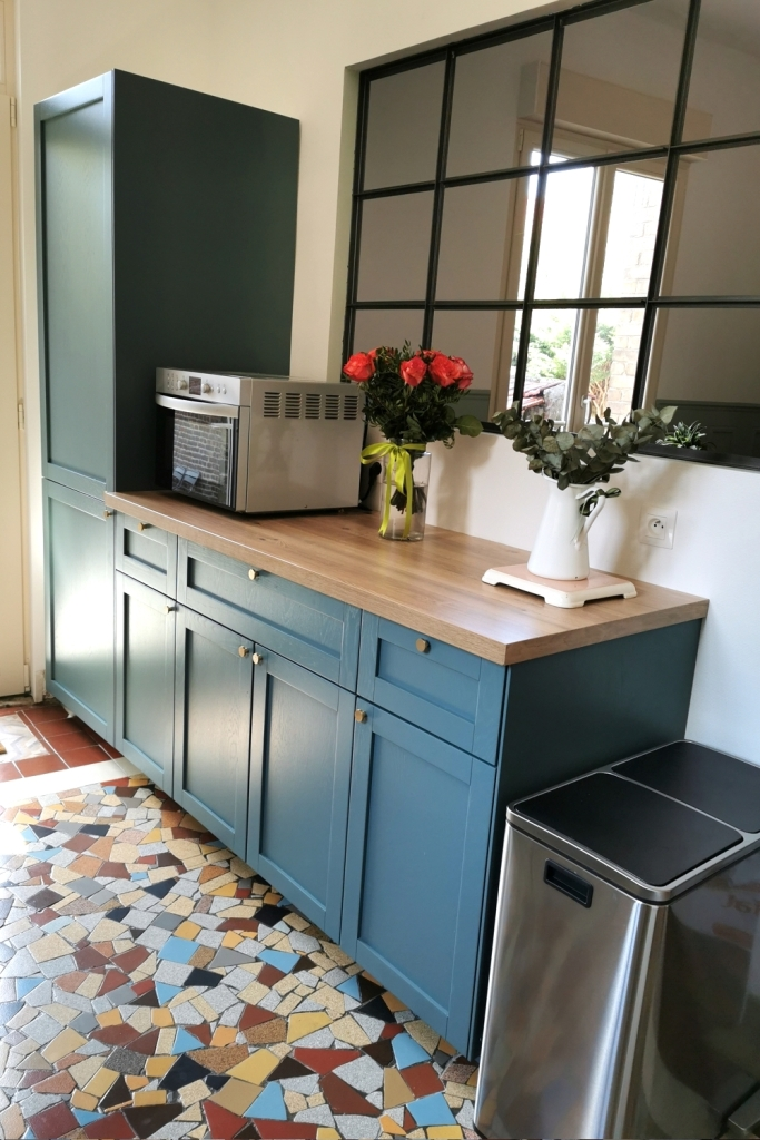 Renovation cuisine ancienne meuble ikea plum kitchen bleu paon 15