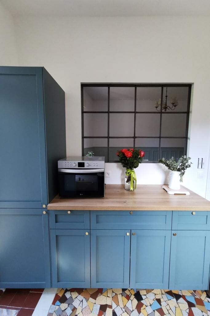 Renovation cuisine ancienne meuble ikea plum kitchen bleu paon 16