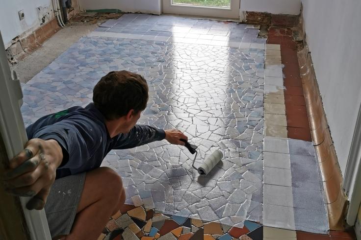 Renovation cuisine sol ancien resine resinence 02